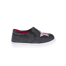 Kız Çocuk Keten Ayakkabı Denim (21-30 numara)