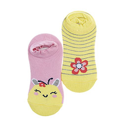 Kız Çocuk 2li Babet Çorap Sarı (23-34 numara)
