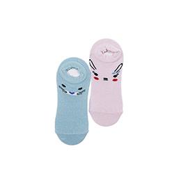 Kız Çocuk 2li Babet Çorap Mint (23-34 numara)