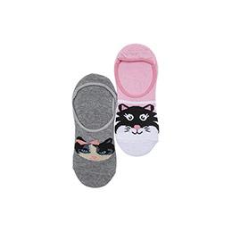 Kız Çocuk 2li Babet Çorap Gri (23-34 numara)