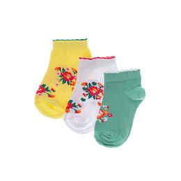 Kız Çocuk 3lü Patik Çorap Beyaz (23-34 numara)