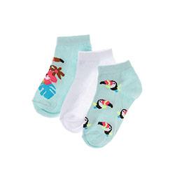 Kız Çocuk 3lü Patik Çorap Mint (23-34 numara)