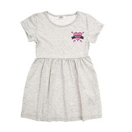 Kız Çocuk Elbise Gri Melanj (3-7 Yaş)