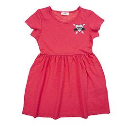 Kız Çocuk Elbise Koyu Pembe (3-7 Yaş)