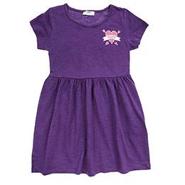 Kız Çocuk Elbise Mürdüm (3-7 Yaş)