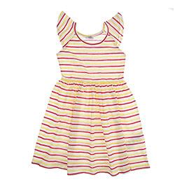 Kız Çocuk Örme Elbise Beyaz (3-7 Yaş)