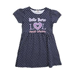Kız Çocuk Örme Elbise Lacivert (3-7 Yaş)