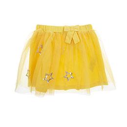 Kız Çocuk Örme Etek Sarı (3-7 Yaş)