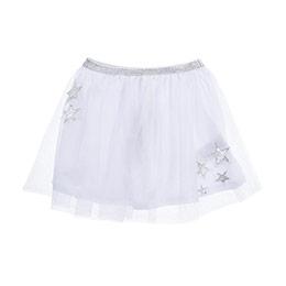 Kız Çocuk Örme Etek Beyaz (3-7 Yaş)