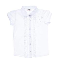 Kız Çocuk Dokuma Gömlek Beyaz (3-7 Yaş)