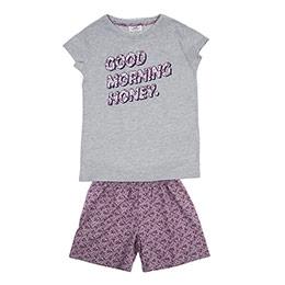 Genç Kız Pijama Takımı Gri Melanj (8-12 Yaş)