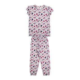 Kız Çocuk Pijama Takımı Bej Melanj (3-7 Yaş)