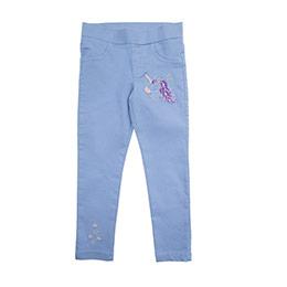 Kız Çocuk Denim Pantolon Lila (3-7 Yaş)