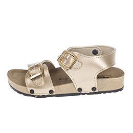 Kız Çocuk Çift Bantlı Sandalet Dore (24-33 numara)