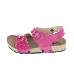 Kız Çocuk Çift Bantlı Sandalet Açık Pembe (24-33 numara)
