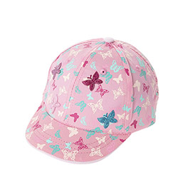 Kız Çocuk Kep Şapka Somon (1-3 Yaş)