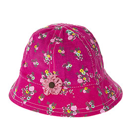Kız Çocuk Fötr Şapka Fuşya (3-7 Yaş)