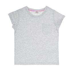 Kız Çocuk Tişört Gri Melanj (3-7 Yaş)