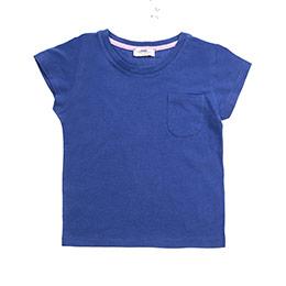Kız Çocuk Tişört Saks (3-7 Yaş)