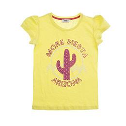 Kız Çocuk Tişört Sarı (3-7 Yaş)