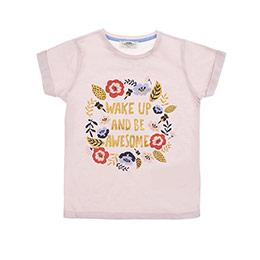 Kız Çocuk Tişört Somon (3-7 Yaş)