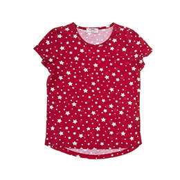 Kız Çocuk Tişört Kırmızı (3-7 Yaş)