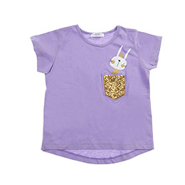 Kız Çocuk Tişört Lila Melanj (3-7 Yaş)