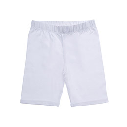 Kız Çocuk Kısa Boy Tayt Beyaz (3-7 Yaş)