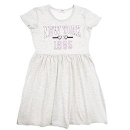 Genç Kız Elbise Bej Melanj (8-12 Yaş)