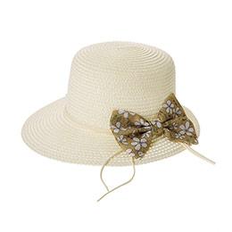 Genç Kız Hasır Şapka Krem (8-12 Yaş)