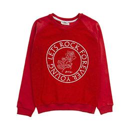 Genç Kız Sweatshirt Kırmızı (8-12 Yaş)