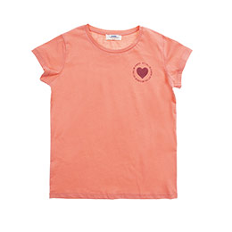 Genç Kız Kısa Kollu Tshirt Somon 8Y