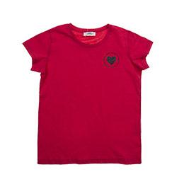 Genç Kız Kısa Kollu Tshirt Fuşya 8Y