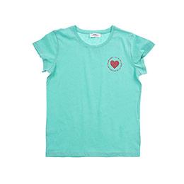 Genç Kız Kısa Kollu Tshirt Koyu Mint 8Y