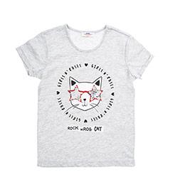 Genç Kız Tişört Gri Melanj (8-12 Yaş)