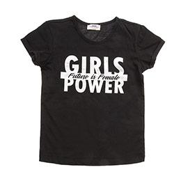 Genç Kız Tişört Siyah (8-12 Yaş)