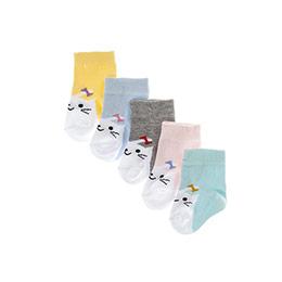 Kız Bebek 5li Soket Çorap Beyaz (14-22 numara)