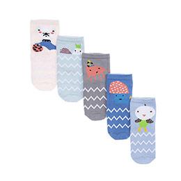 Kız Bebek 5li Soket Çorap Mavi (14-22 numara)