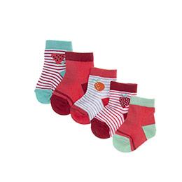 Kız Bebek 5li Soket Çorap Pembe (14-22 numara)