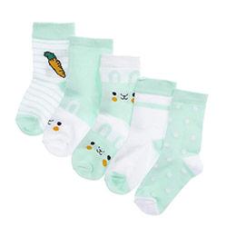 Kız Bebek 5li Soket Çorap Mint (14-22 numara)