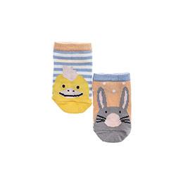 Kız Bebek 2li Patik Çorap Mavi (14-22 numara)
