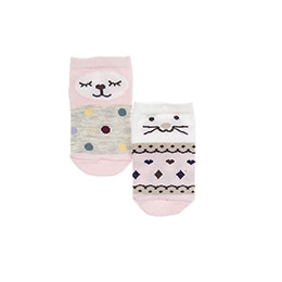 Kız Bebek 2li Patik Çorap Pembe (14-22 numara)