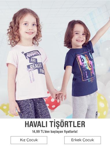 Kız Çocuk Erkek Çocuk tişörtler